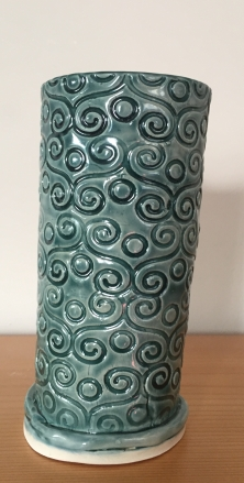 "Curly vase ( 12"" tall) $30"